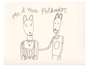 Mr. & Mrs. Polkadot as mice