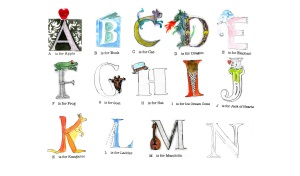 Alphabet End Papers
