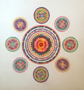 "Mother Mandala Gouache  12"" x 12"""