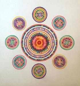 "Mother Mandala Gouache  12"" x 12"""